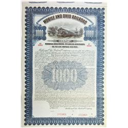 Mobile and Ohio Railroad Co., 1913 Specimen Bond