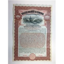 Toledo Railway & Terminal Co., 1904 Specimen Bond