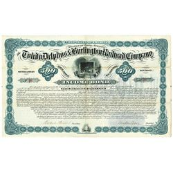 Toledo, Delphos & Burlington Railroad Co., 1881 Issued Bond