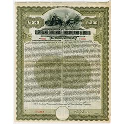 Cleveland, Cincinnati, Chicago and St. Louis Railway Co., Specimen Bond.