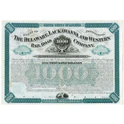 Delaware, Lackawanna and Western RR Co. 1877 Specimen Bond.