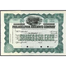 Philadelphia Railways Co., ca.1930-1950 Specimen Stock