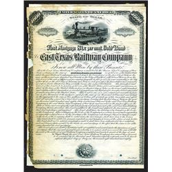 East Texas Railway Co., 1880 Specimen Bond.