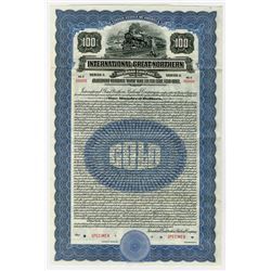 International-Great Northern Railroad Co. 1922 Specimen Bond