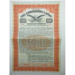 Emigration Canon Railroad Co. 1909 Specimen Bond.