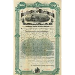 Burlington and Hinesburgh Railroad Co., 1984 Specimen Bond