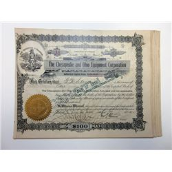 Chesapeake & Ohio Equipment Corporation 1912-36 Share Certificates Group