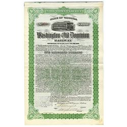 Washington and Old Dominion Railway, 1911 Issued Bond