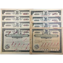 Group of 7 Western Pocahontas Coal & Lumber Company Shares 1903