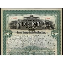 University Club 1897 Specimen Bond.