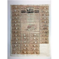 San Francisco City Stock 1851 Gold Rush Era Pair of $1000 Bonds Signed By John Geary
