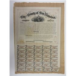 Bond of the City and County of San Francisco, 1866, $1000 Bond