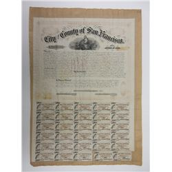 Bond of the City and County of San Francisco, 1866, $1000 School Bond