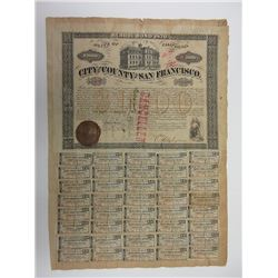 Bond of the City and County of San Francisco, 1870, $1000 Bond