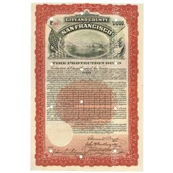 City and County of San Francisco, 1908 Cancelled Bond