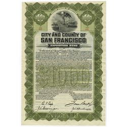 City and County of San Francisco, Exposition Bond. 1912 Panama Pacific Bond.
