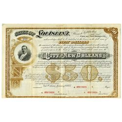 City of New Orleans, 1883 Specimen Bond