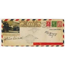 Eddie Rickenbacker 1930 Autographed Air Mail First flight Cover.