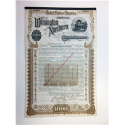 Wilmington & Northern Railroad Bond Signed By DuPont