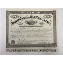 Virginia & Truckee Rail Road Company Bond Signed By William Sharon