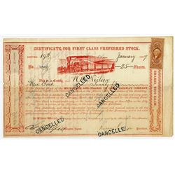 Milwaukee & Prairie Du Chien Railway Co., 1867 Share Signed by Russel Sage