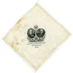Alaska -Yukon-Pacific Exposition 1909 Souvenir Silk Handkerchief Printed by the B.E.P.