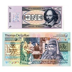 Thomas De La Rue Advertising Note Specimen Pairing