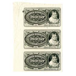 North Georgia Stock & Fair Association. Circa 1880's. Proof Ticket.
