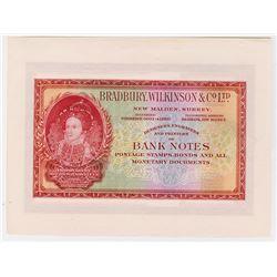 Bradbury, Wilkinson & Company, ca.1900-1920 Advertising note.