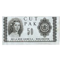 De La Rue & Casa da Moeda do Brasil, ND, Pair of Test & Advertising Notes