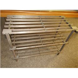 Wood 3 shelf Shoe rack / 11 x 25 x 19 high