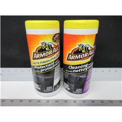 2 New Armor All Protectant & Cleaning Wipes