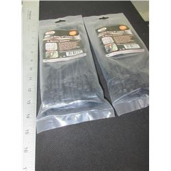 "2 New 8"" Heavy Duty Cable/Zipties / 2 packs of 100 each / black"