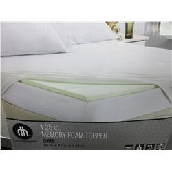 "Queen 1.25"" Memory Foam Topper"