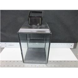 Metal & Glass Hurricane Candle Lantern / great for your Patio Table