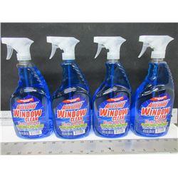 4 New Window & Glass Cleaner 32 oz Spray / streak free
