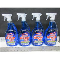 4 New Window & Glass Cleaner 32 oz Spray / streak free