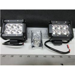 New set of 2  LED Off Road Lights 1800 lumens / waterproof / 4 inch