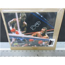 "Signed  James "" Buster ""  Douglas Knocking out Iron Mike Tyson / COA"