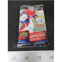 1 pack of 8 Upper Deck 2015/16 series 1 Hockey Cards/ Get a McDavid