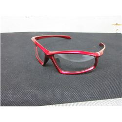 Bundle of 7 New Safety Glasses / Clear XP-87 red frame / retail= 12.99ea