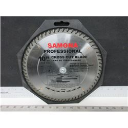 "New Samona Professional 10"" Cross cut Blade / 60 Tooth Carbide 3.2mm Kerf"