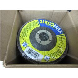 "New Case of 10 ZircoMax high density Flap Disks / 4-1/2"" x7/8 - 80 grit"