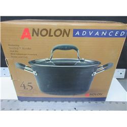 New Anolon Advanced 4.5quart Covered Tapered Saucepot