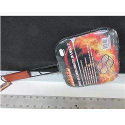 New Hamburger Basket / great for Camping or BBQ / easily flip all 4 at once