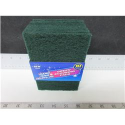 New pack of 10 Green Scouring Pads / great for pots,grills and more