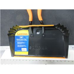 New 16 inch Dust Pan great for shop or garage / 10 x 16 heavy duty