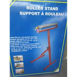 New Roller Stand 24-1/2 to 42 inches lock knob and ball bearing roller