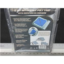 New 5 x 7 Poly Tarp reversable