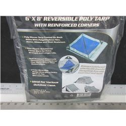 New 6 x 8  Poly Tarp reversable